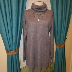 Gray Long Sweater/Dress